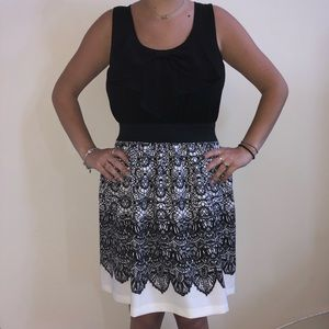 Black and White Cocktail Dress - M -